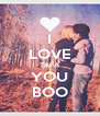 I LOVE TAFA YOU BOO - Personalised Poster A4 size