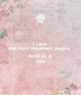 I love  the most important people  in my life MERIJN & SEM - Personalised Poster A4 size