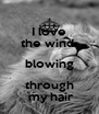 I love the wind  blowing through  my hair - Personalised Poster A4 size