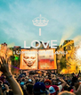 I LOVE TOMORROWLAND   - Personalised Poster A4 size