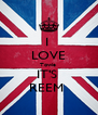 I  LOVE Towie  IT'S  REEM  - Personalised Poster A4 size