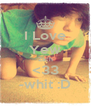I Love Yew Zach <33 -whit :D - Personalised Poster A4 size