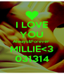 I LOVE YOU Always&Forever  MILLIE<3 031314 - Personalised Poster A4 size