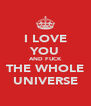 I LOVE YOU AND FUCK THE WHOLE UNIVERSE - Personalised Poster A4 size