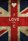 I LOVE YOU C  - Personalised Poster A4 size