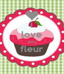 i love you fleur  - Personalised Poster A4 size