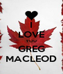 I LOVE YOU GREG MACLEOD - Personalised Poster A4 size