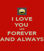 I LOVE YOU LEE FOREVER AND ALWAYS - Personalised Poster A4 size