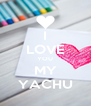 I LOVE YOU MY YACHU - Personalised Poster A4 size