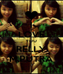 I LOVE YOU RELLY M.PUTRA - Personalised Poster A4 size
