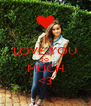 I LOVE YOU SO MUCH <3 - Personalised Poster A4 size