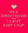 I'M A DIRECTIONER AND I CAN'T KEEP CALM - Personalised Poster A4 size