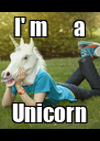 I' m      a Unicorn - Personalised Poster A4 size
