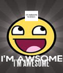 I'M AWSOME - Personalised Poster A4 size
