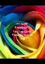 I'M NOT         RANDOM      You Just Can't       - Personalised Poster A4 size