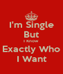 I'm Single But I Know Exactly Who I Want - Personalised Poster A4 size