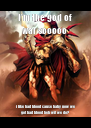 I'm the god of war sooooo i like bad blood cause baby now we got bad blood heh wit we do? - Personalised Poster A4 size
