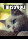 I miss you  - Personalised Poster A4 size