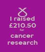 I raised £210.50 for  cancer research - Personalised Poster A4 size