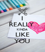 I REALLY  KINDA LIKE YOU - Personalised Poster A4 size