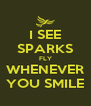 I SEE SPARKS FLY WHENEVER YOU SMILE - Personalised Poster A4 size