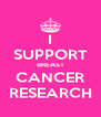 I SUPPORT BREAST CANCER RESEARCH - Personalised Poster A4 size