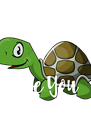 I Turtley   Love You  - Personalised Poster A4 size