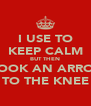 I USE TO KEEP CALM BUT THEN I TOOK AN ARROW TO THE KNEE - Personalised Poster A4 size