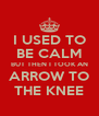 I USED TO BE CALM BUT THEN I TOOK AN ARROW TO THE KNEE - Personalised Poster A4 size