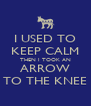 I USED TO KEEP CALM THEN I TOOK AN ARROW TO THE KNEE - Personalised Poster A4 size