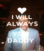 I WILL ALWAYS LOVE  YOU  DADDY  - Personalised Poster A4 size