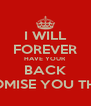 I WILL FOREVER HAVE YOUR BACK PROMISE YOU THAT - Personalised Poster A4 size