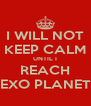 I WILL NOT KEEP CALM UNTIL I REACH EXO PLANET - Personalised Poster A4 size