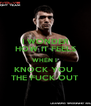 I WONDER HOW IT FEELS WHEN I  KNOCK YOU  THE FUCK OUT - Personalised Poster A4 size