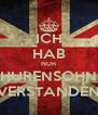 ICH HAB NUR HURENSOHN VERSTANDEN - Personalised Poster A4 size