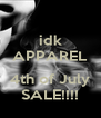 idk APPAREL  4th of July SALE!!!! - Personalised Poster A4 size