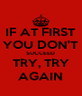 IF AT FIRST YOU DON'T SUCCEED TRY, TRY AGAIN - Personalised Poster A4 size