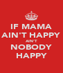 IF MAMA AIN'T HAPPY AIN'T NOBODY HAPPY - Personalised Poster A4 size