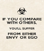 IF YOU COMPARE WITH OTHERS, YOU'LL SUFFER FROM EITHER ENVY OR EGO - Personalised Poster A4 size