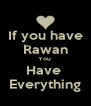 If you have Rawan You  Have  Everything - Personalised Poster A4 size