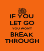 IF YOU LET GO YOU WON'T BREAK THROUGH - Personalised Poster A4 size