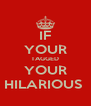 IF YOUR TAGGED YOUR HILARIOUS  - Personalised Poster A4 size