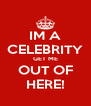 IM A CELEBRITY GET ME OUT OF HERE! - Personalised Poster A4 size