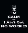 IM CALM CUZ I Ain't Got NO WORRIES - Personalised Poster A4 size