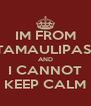 IM FROM TAMAULIPAS  AND I CANNOT KEEP CALM - Personalised Poster A4 size