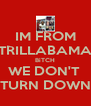 IM FROM TRILLABAMA BiTCH WE DON'T  TURN DOWN - Personalised Poster A4 size
