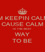 IM KEEPIN CALM CAUSE CALM IS THE BEST WAY TO BE - Personalised Poster A4 size