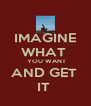 IMAGINE WHAT   YOU WANT AND GET  IT  - Personalised Poster A4 size