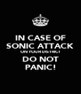 IN CASE OF SONIC ATTACK ON YOUR DISTRICT DO NOT PANIC! - Personalised Poster A4 size