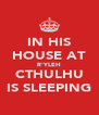 IN HIS HOUSE AT R'YLEH CTHULHU IS SLEEPING - Personalised Poster A4 size